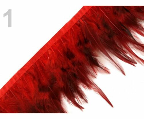 1m Feather Trim With Rooster Feathers Width Trimming Braids And Trims Haberda...