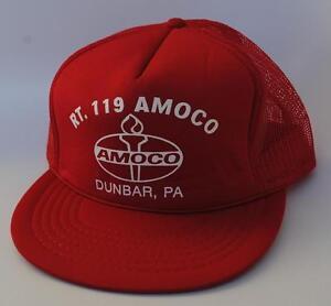 9c8054d84abee RT. 119 AMOCO DUNBAR PA One Size Snapback Flat Brim Trucker Baseball ...