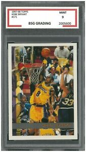 1997-98-TOPPS-KOBE-BRYANT-171-SECOND-YEAR-BSG-Graded-9