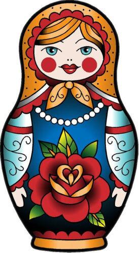 "#311 Russian Matryoshka Doll Decal Sticker Vinyl Babushka Doll 5/"" x 2.75 Style1"