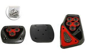 Pedalset Sportpedale 3x Pedal Für Ford Focus Escort Puma Orion Chrom Rot