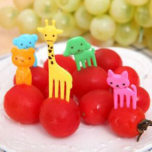 Animal-Farm-Cartoon-Food-Fork-Fruit-Pick-Sign-Bento-Lunch-Tableware-Party-Decor