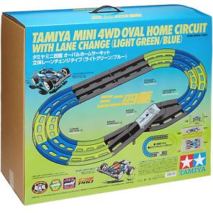 Tamiya 69569 Mini 4WD Oval Home Circuit With Lane Change (Light verde azul)