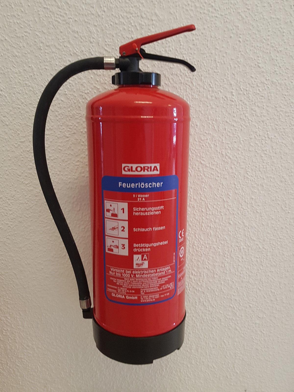 Feuerlöscher Gloria W9 Easy 9 Liter Wasser 27A