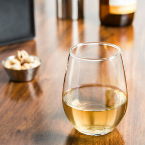 0583513cc65 Details about Set of 6 Libbey 217 Stemless White Wine Glass 12 oz
