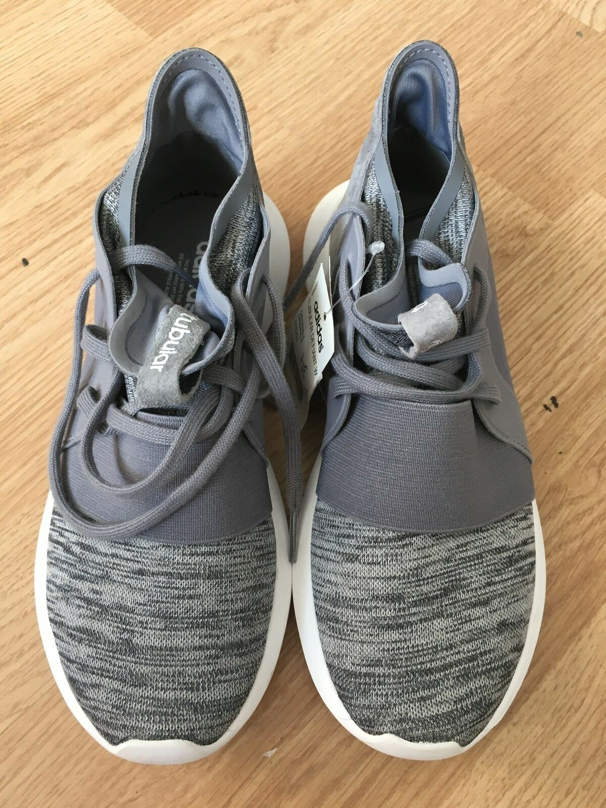 Adidas Original Tubular Defiant Sz:5.5 Gray S75253 S75253 Gray Weiß Primeknit Rare 9c20cb