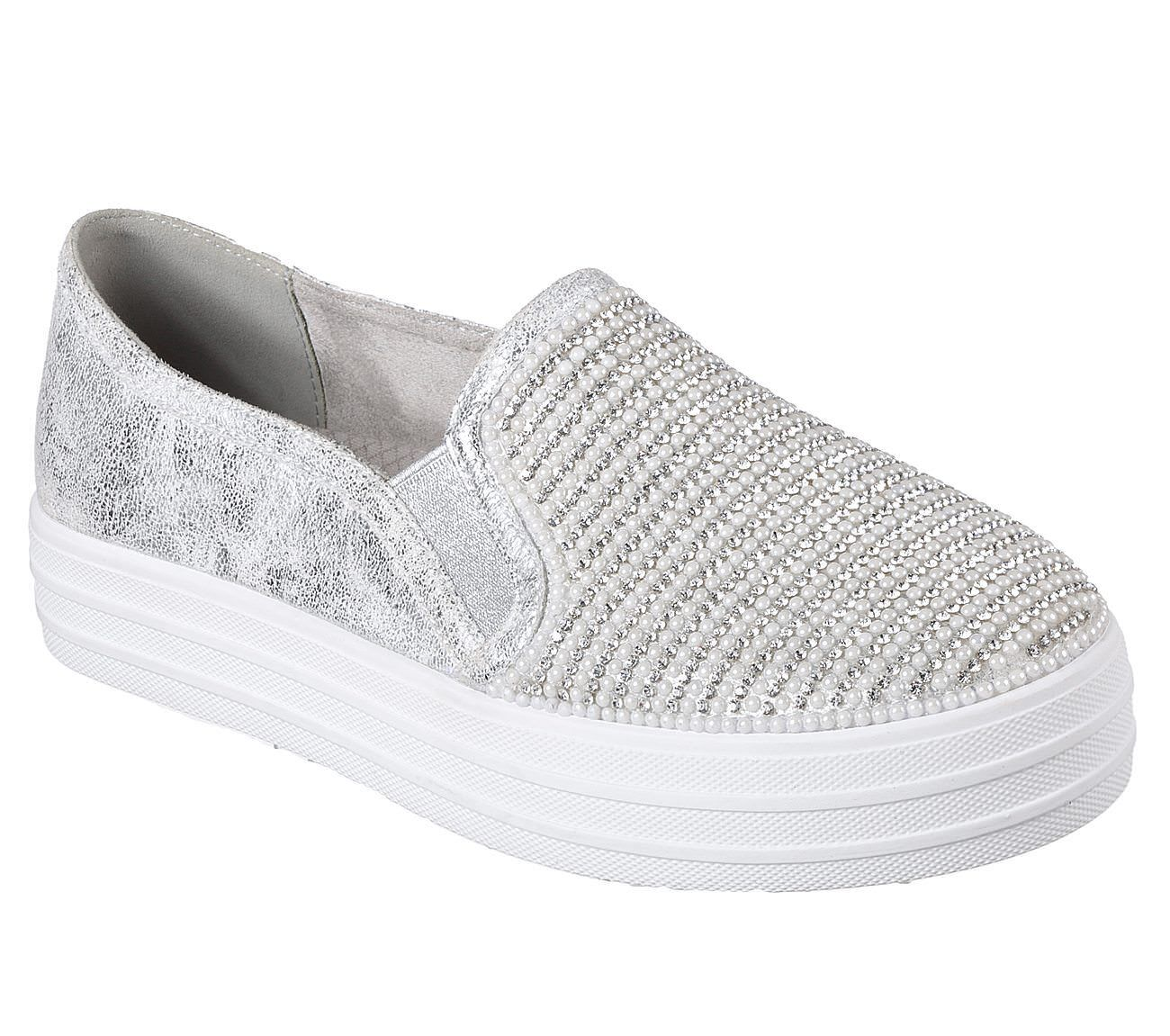 Skechers Dancer Double Up - Shiny Dancer Skechers Sneaker silber fe2b34