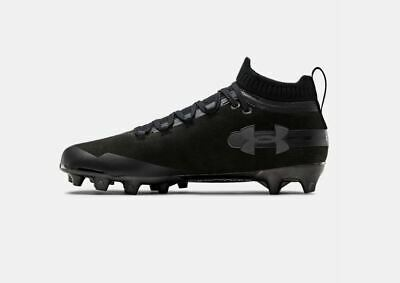 New Mens Under Armour Spotlight Suede Mc Football Lacrosse Cleats Black Sz 9 M 192811835510 Ebay