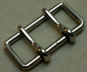 1a Gürtelschnalle Doppeldornschnalle Für 5cm GÜrtelbreite Farbe: Silber Neu Top#