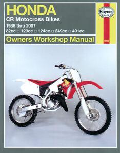 Haynes-Manual-2222-for-Honda-CR80-CR85-CR125-CR250-CR500-MX-Bikes-86-07