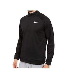2xl L hombre S larga entrenamiento 2 Zip M de Nike 1 para Jersey manga negro Therma 6wZxKCFq