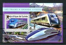 Guinea 2015 MNH High Speed Trains 1v S/S Shinkansen Railways Stamps