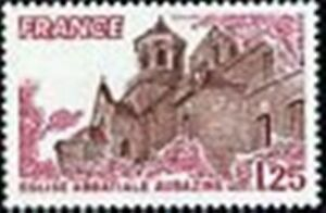 FRANCE-STAMP-TIMBRE-N-2001-034-EGLISE-ABBATIALE-AUBAZINE-034-NEUF-xx-LUXE