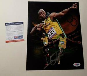 Usain Bolt PSA DNA Auto Signed 8x10 Autograph World's ...