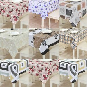 Image Is Loading Waterproof Oil Proof Pvc Table Cloth Cover Protector