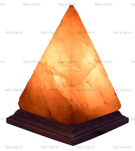 PYRAMID ELECTRIC HIMALAYAN ROUGH SALT TABLE LAMP CRYSTAL ROCK NATURAL IONISER