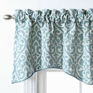 Twill-amp-Birch-Belle-Maison-USA-LTD-Bryce-Chenille-Scalloped-Curtain-Valance-wi