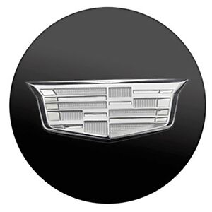 19329257 Black Cadillac Center Caps With Silver Crest One Cap Fits Ats Cts Elr Ebay