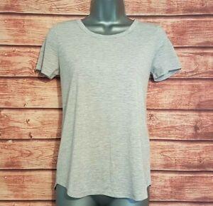 M-amp-s-collection-Taille-8-Femme-Gris-Tee-T-Shirt-Casual-stretch-tres-bon-etat-Women-039-s-Ladies