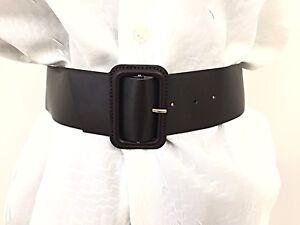 maggiore sconto di vendita offerta speciale genuino Dettagli su Cintura Donna Vita Alta Finta Pelle Fibbia Rivestita Su Misura  Tanti Colori Moda