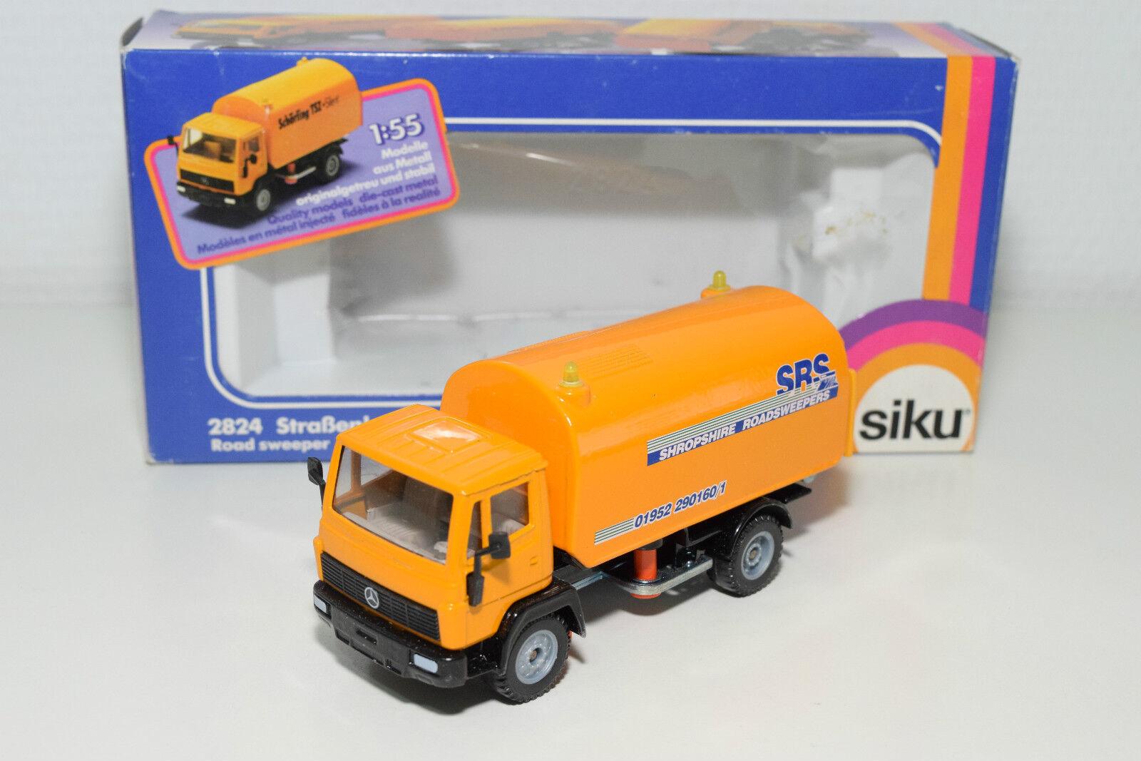 SIKU 2824 MERCEDES BENZ ROAD SWEEPER SRS SHROPSHIRE ROADSWEEPERS MINT BOXED