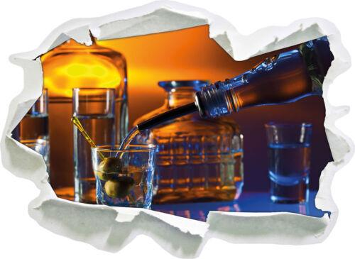 3d-Look papier mural autocollant-sticker Strong alcohol