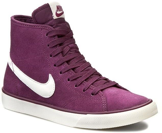 Nike Primo Court Women's Suede Mid-Top Sneakers, 630656 515 Sizes 6-10 Mulberry/