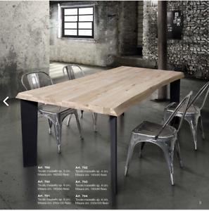 Gambe Per Tavoli In Legno Massello.Tables Chairs Tavolo Legno Massello Sp 6 Cm O 4 Cm Fisso Gambe
