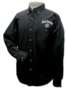 Jack-Daniel-039-s-Western-Solid-Cotton-Twil-with-Buttons-BLACK-Shirt-33225950JD