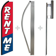 Rent Me 15 Tall Swooper Flag Amp Pole Kit Feather Super Bow Banner