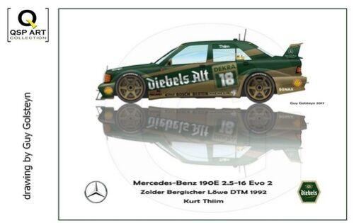 Coffee Mug 1992 DTM Mercedes-Benz 190E 2.5-16 Evo2 #8 Kurt Thiim by Guy Golsteyn