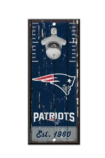 New England Patriots Wall Bottle Opener Wood Opener NFL Football