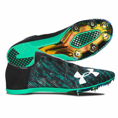 UA Speedform Pro Miler Track Spikes Green//Black 1266204-299 8 8.5 9.5 10 11.5 12