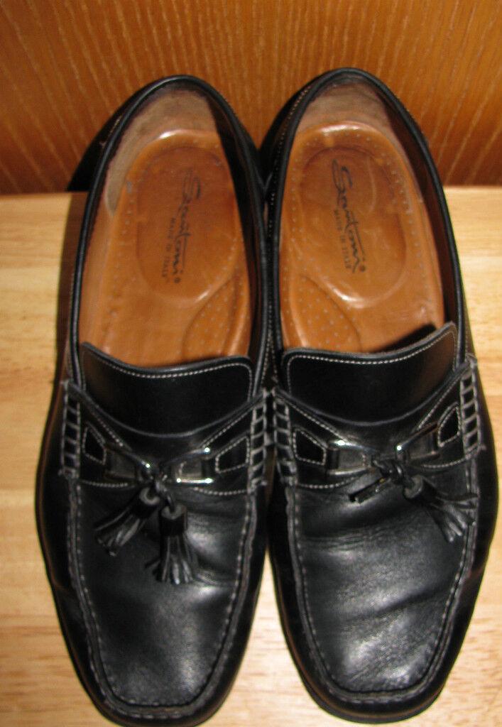 SANTONI  Herren LEATHER LOAFERS LOAFERS LEATHER TASSEL Schuhe SZ 9D 938e82