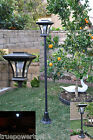 SOLAR POST LAMP W/BRIGHT REPLACEABLE LED BULB - NO WIRING & ZERO OPERATING COST