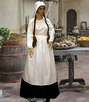 Ladies Medieval ,tudor Serving Wench Peasant 4pc Costume Fancy Dress Size 6-20
