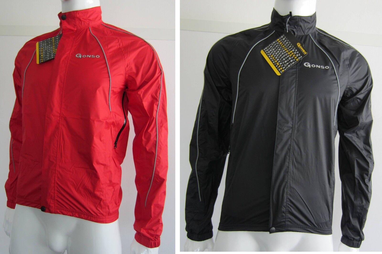 """Caballeros Caballeros Caballeros Gonso lluvia chaqueta """"splash"""" bikejacke negro o. rojo nuevo 32150 alpencross  disfruta ahorrando 30-50% de descuento"""