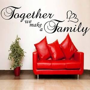Together We Make A Family Wall Sticker Lounge Bedroom Art Afc8 Ebay