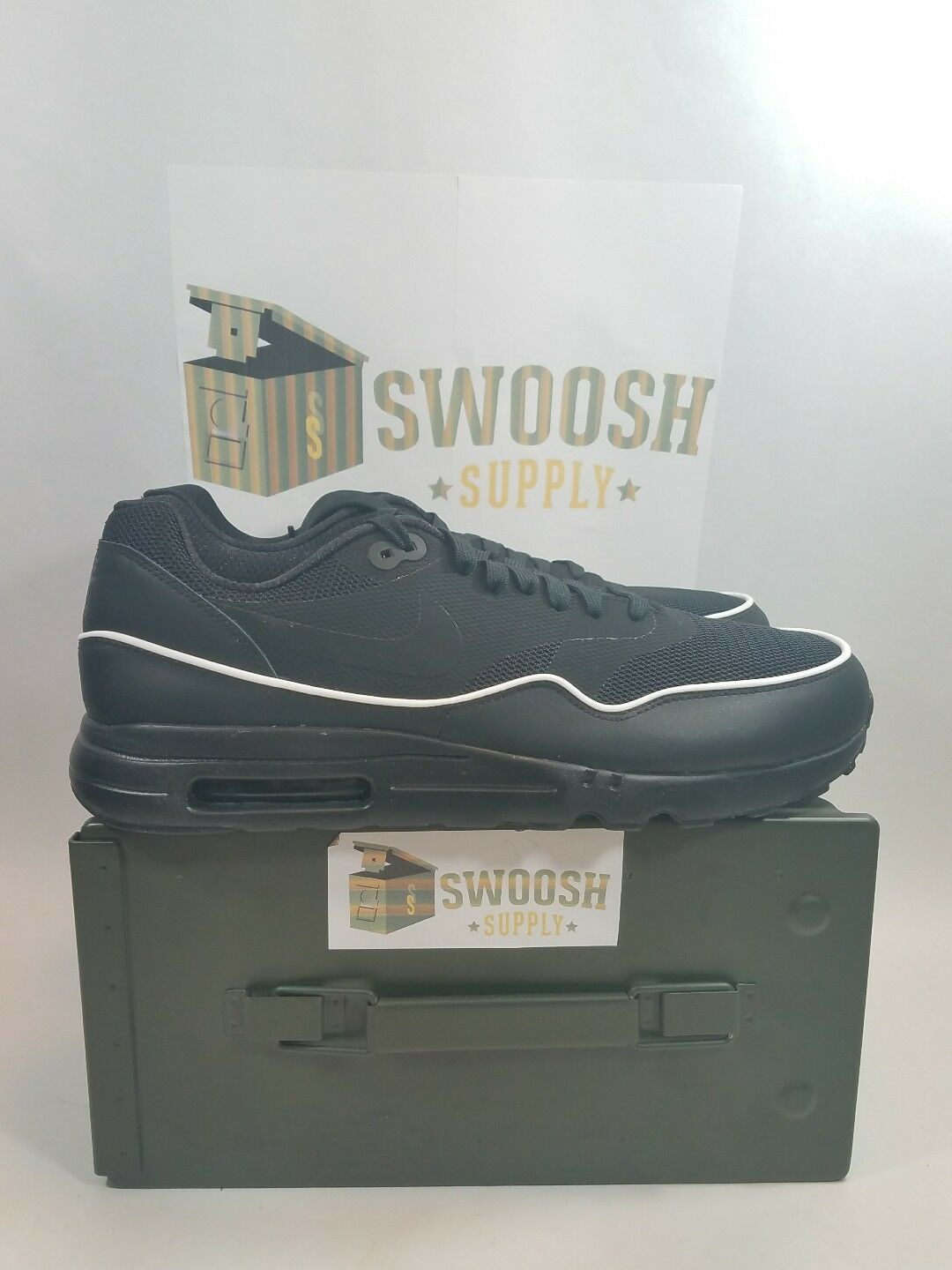 NIKE AIR MAX 1 ULTRA 006 2.0 ESSENTIAL BLACK 875679 006 ULTRA SZ 12 FREE AIR MAX fd45e2