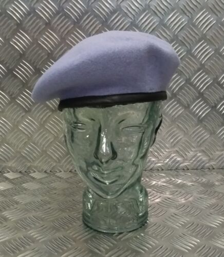 Light Blue Wool Beret 56cm B ARMY AIR CORPS Genuine British Military Issue AAC
