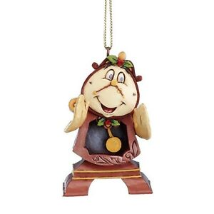 DISNEY CHRISTMAS Hanging Ornament Cogsworth Jim Shore Figur A21429 Beauty ENESCO