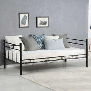 Twin Size Daybed Sofa Bed Metal Frame Solid Support Guest Dorm Home