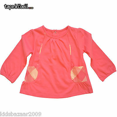 Tapealoeil Toddler Girls Red Check Trimmed Long Sleeve Smock//Top Size 18M//23M