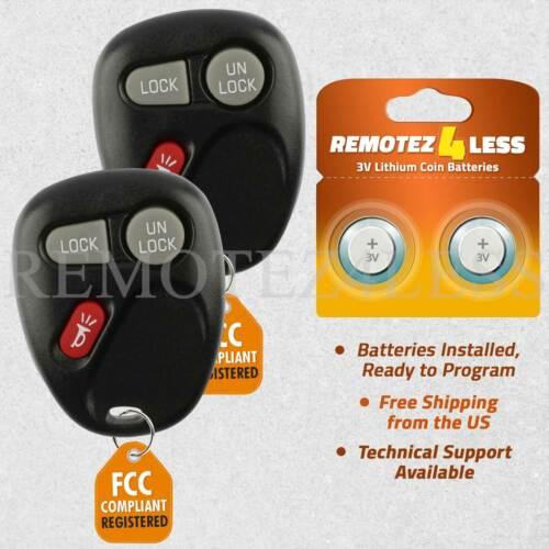 2 For 2001 2002 Chevrolet Silverado Suburban 500 2500 3500 Car Remote Key Fob