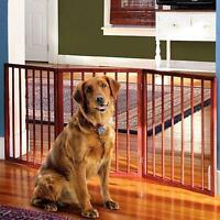 Dog Cat Pet Gate Fence Folding 3 Sections Wooden Expandable Safety Gate Barrier