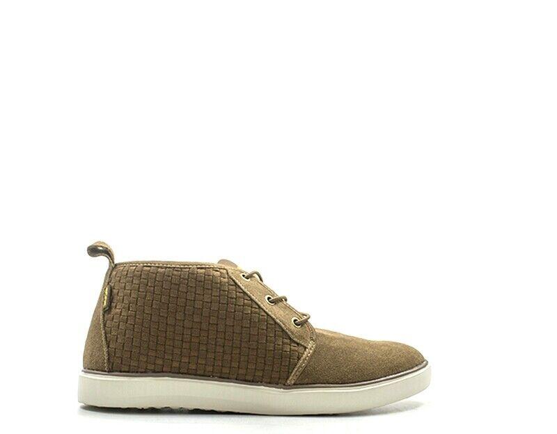 shoes HEY DUDE men Decollete  brown Scamosciato,Tessuto 110261500