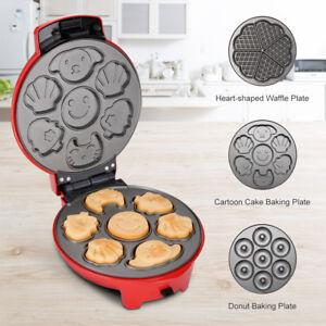 3-In-1 Non-Stick Snack Cake Maker, Multi-Plate Waffle Iron Maker 700W Grill UK