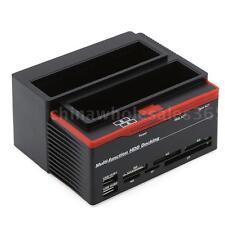"2.5/3.5""inch SATA IDE HDD Hard Drive Disk Docking Station Clone USB 2.0 HUB J2A0"