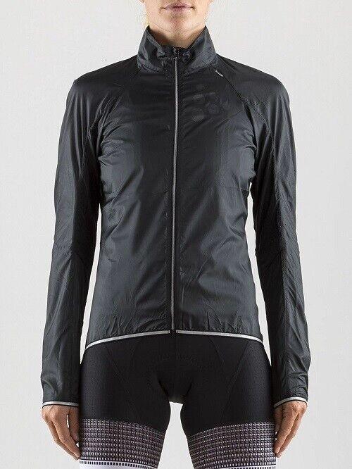 Craft Craft Craft LITHE JKT W in nero taglia XL Donna Bicicletta Giacca Leggera Bike-Giacca 40124d