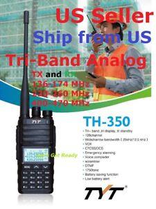 TYT-TH-350-Tri-Band-144-220-430-MHz-Analog-Handheld-Radio-US-Seller